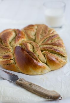 Braided pistachio loaf