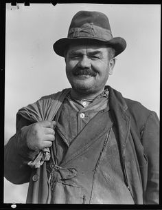 Peter Percupu, Roumanian miner, unemployed, known in Scott's Run as Ground Hog. Too old to find employment in the mines, March 1937 by The U.S. National Archives, via Flickr