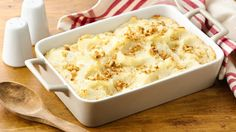 Who doesn't love creamy, smooth, fluffy mashed potatoes? With just six ingredients (two of which are salt and pepper) this comfort food staple comes together in no time. These Do-Ahead Mashed Potatoes can be made up to 24 hours ahead of time, refrigerated, and baked when you're ready for a no-stress, no-fuss side. Whether it's Thanksgiving or just for dinner, Do-Ahead Mashed Potatoes will be your go-to recipe when you're craving a heaping helping of mashed potatoes.