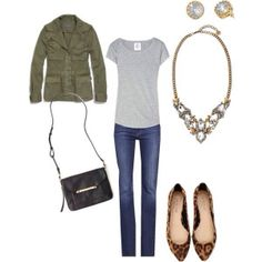 casual + statement necklace  #stelladotstyle #ootd