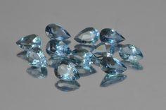 Blue Africana Aquamarine. 11 pieces. Pear cut. 3.86 ct total. http://mdmayagems.com/collections/beryl-aquamarine/products/blue-africana-aquamarine-11-pieces-pear-cut-3-86-ct-total