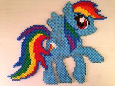 MLP - Rainbow Dash hama perler beads by Sasha Nielsen