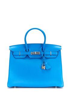 Blue Hydra Togo Birkin 35cm by Hermès