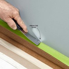 Press Down Painter's Tape to Ensure a Good Bond - Tips for How to Use Painters Tape: http://www.familyhandyman.com/painting/tips/using-masking-tape-when-painting#3