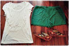 VillaNanna: Rantashortsit ja tuunattu paita