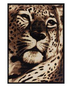 Look at this #zulilyfind! Leopard Rug by Well Woven #zulilyfinds