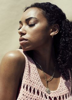 "Actress Logan Browning Talks Dear White People and More: Off-screen, there are similarities between the star and her alter ego. Logan openly talks about her struggle to find her place—""I'm constantly searching for my identity in groups of people""—there's also the fact that she isn't shy about publicly expressing her opinions. --  Short Necklaces by Foundrae and Hoop Earring by Shinola  