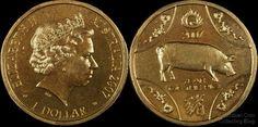 Australian Dollar Coins - 2007 Year of the Pig Dollar -Lunar Series