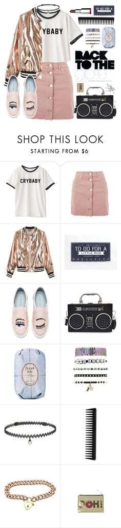 """Crybaby!"" by hennie-henne ❤ liked on Polyvore featuring Topshop, Sans Souci, Chiara Ferragni, Fresh, Charlotte Russe, BERRICLE, GHD and 1901"