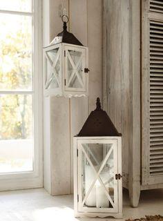 Home Decor Bird Cages and Lanterns White Lanterns, Lanterns Decor, Candle Lanterns, Hanging Lanterns, Antique Decor, Cozy Cottage, Oil Lamps, Decoration, Sweet Home