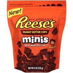 Reese's Minis Unwrapped Peanut Butter Cups, 8 oz Reese's Minis Unwrapped Peanut Butter Cups: Milk chocolate and peanut butter Kosher Chocolate Peanut Butter Cups, Chocolate Bark, Amazon Auto, Kosher Candy, Melted Snowman, Mini Milk, Confectionery, Food Cravings, Snacks