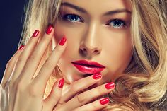 "The perfect sultry red is always a winner for Valentines Day! Try ""Runway"" by Couture Gel Nail Polish."