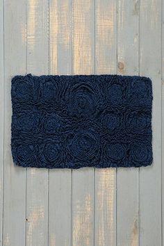 Navy Blue Bathroom New Digs Pinterest Navy Blue Bathrooms - Navy and white bath mat for bathroom decorating ideas