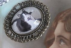 $48 on Etsy: Cat Personalized Pet Cameo