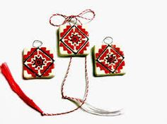 Imagini pentru martisor ceramica Polymer Clay Crafts, Red Shoes, Projects For Kids, Drop Earrings, Traditional, Embroidery, Beads, Christmas Ornaments, Holiday Decor