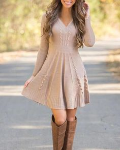 Fall Dresses, Sweater Dresses For Fall, Fall Dress Outfits, Eid Outfits, Autumn Outfits, Dress Casual, Holiday Outfits, Casual Outfits, Knit Sweater Dress