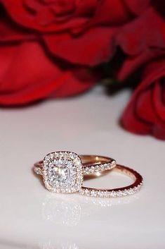 30 Best Diamond Wedding Rings For Real Women ❤️ diamond wedding rings cushion cut pave band halo rose gold ❤️ See more: http://www.weddingforward.com/diamond-wedding-rings/ #weddingforward #wedding #bride #engagementrings