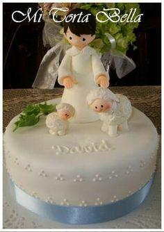 Torta de Primera Comunión Niño con ovejitas