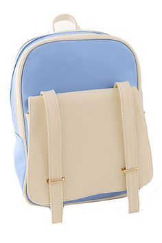 ROMWE | Double Buckles Color Block Backpack, The Latest Street Fashion