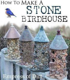 Stone birdhouse DIY