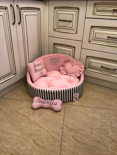 Excited to share this item from my shop: Baby pink and black striped princess dog bed Personalised dog bed Designer pet bed Cat bed Medium or small dog bed Baby pink puppy bed Puppy Room, Puppy Beds, Pet Beds, Pink Dog Beds, Princess Dog Bed, Personalized Dog Beds, Designer Dog Beds, Dog Beds For Small Dogs, Large Dogs