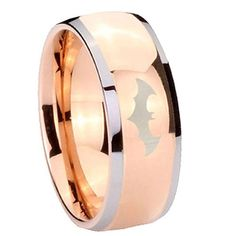 8MM Tungsten Carbide Laser Batman Shiny Rose Gold IP Silver Edges Dome Engraved Ring Size 9 Tungstenmen http://www.amazon.com/dp/B00FSFSFJ0/ref=cm_sw_r_pi_dp_rZBdvb0PTYQ2W