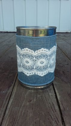 Tin Can Centerpiece Vase by ArtOfAlice on Etsy