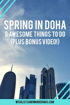 From food festivals to motorsports to gorgeous weather, spring is a perfect time to explore Qatar's capital city and beyond. Relax at Sheraton Park, take a stroll on the Corniche, devour eats at the annual food festival or head out to the mangroves to see some flamingos. Here are some things to do, see and eat in Doha in the spring (and a bonus 'travel with me' video!).