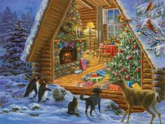 Window Shopping Jigsaw Puzzle | Winter Themes | Vermont Christmas Co. Vt Holiday…