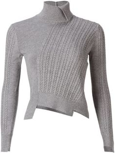 Miharayasuhiro asymmetric cable-knit sweater