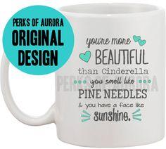 I love this movie!!! I meed this mug!!! You're More Beautiful than Cinderella coffee mug by perksofaurora