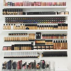 pinterest: can't imagine ever owning this much makeup because I hardly where what I have now, but golly it sure looks beautiful