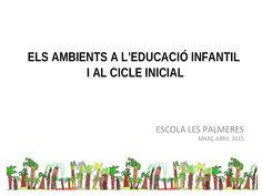 ELS AMBIENTS A L'EDUCACIÓ INFANTIL I AL CICLE INICIAL ESCOLA LES PALMERES… Reggio, Learning, School, Articles, Interiors, Learning Environments, Proposals, Initials, Storytelling