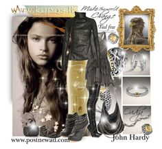 """John Hardy jewelry, Grey black bicker leather, kopos, dunes, oriflame kosmetika"" by ovidija ❤ liked on Polyvore featuring McQ by Alexander McQueen, Betsey Johnson, John Hardy, STELLA McCARTNEY, AllSaints, Magali Pascal, Aspinal of London, Dolce Vita, Blowfish and Rick Owens"