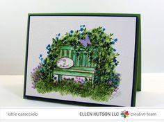 Art Impressions Bench Scene by Kittie Caracciolo