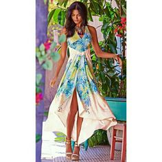 Bebe maxi dress Print draped maxi dress bebe Dresses Maxi
