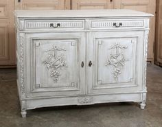 Louis XVI Painted Buffet | Antique Painted Furniture  | Inessa Stewart's Antiques | www.inessa.com