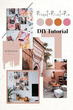 mood boards DIY Tutorial Lightroom Preset + Print + Pin by Kati Boden Web Design, Layout Design, Design Presentation, Plakat Design, Diy Photo, Photo Ideas, Mood And Tone, Photo Boards, Design Graphique