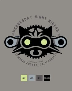 Wednesday Night Riders Mountain Biking logo for our riding group. The eyes glow in the dark.