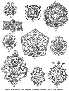 "From a book titled ""Persian Designs and Motifs"" by Dover Press."