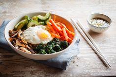 Korean-Bibimbap-Bowl (vegetarisch, Vollwert) von Eva (Food Vegetarisch)