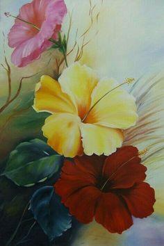 Saree Painting Designs, Fabric Paint Designs, Arte Floral, Beautiful Flowers Wallpapers, Flower Wallpaper, Fabric Painting, Watercolor Flowers, Flower Art, Canvas Art