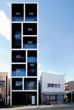 Apartment in Katayama by Mitsutomo Matsunami 33평 남짓한 대지에 아파트를 세울 생각을 했다는 것부...