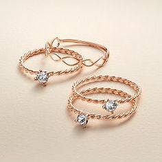 LC Lauren Conrad Runway Collection Twisted Ring Set