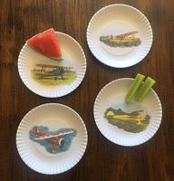 Melamine Airplane Party Plates   Set of 4