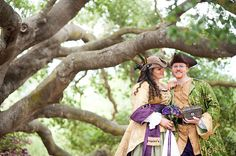 So... wouldn't do it.  But this Pirate Themed wedding is just stunning and super fun!