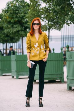 Paris Fashion Week SS17 Street Style: Day 3 - Taylor Tomasi Hill