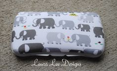 Organic Elephants on White Boutique Style by LauraLeeDesigns108, $9.00 Diaper Wipe Case, Baby Wipe Case, Wipes Case, Cute Babies, Baby Kids, Nursery Supplies, Gender Neutral Baby, Traveling With Baby, Handmade Items