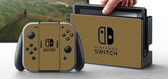 PRE-ORDER Nintendo Switch Skin Custom Vinyl Wrap Decal Sticker Gold
