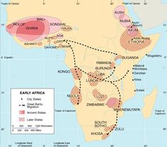 Map of early African cultures.